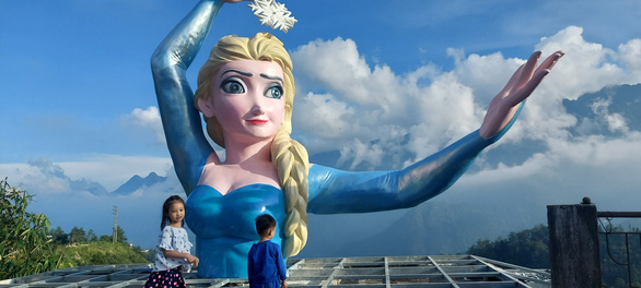 Tourism complex in northern Vietnam faces backlash over ill-shaped statue of Disney princess Elsa