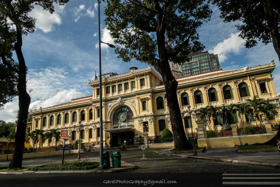 The Central Post Office in District 1, Ho Chi Minh City. Photo: Alexandre Garel