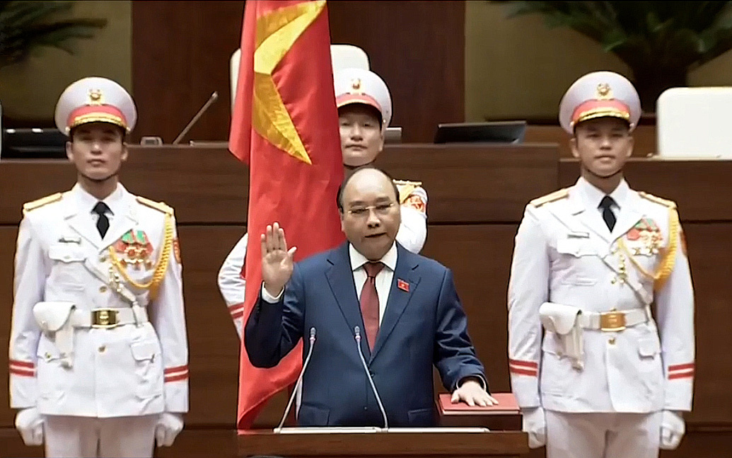 Vietnam's National Assembly re-elects Nguyen Xuan Phuc as state president