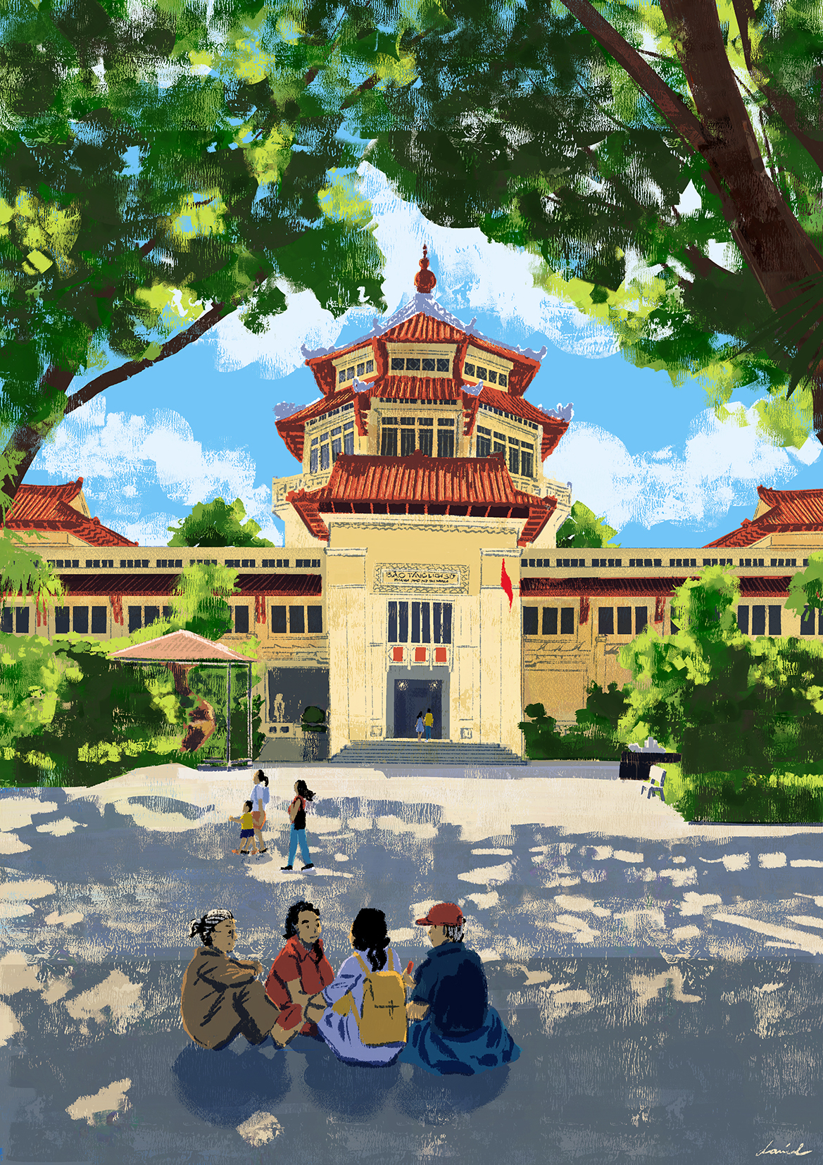 Picnic by the Museum of Vietnamese History. Caption and picture by Daniel Ansel Tingcungco