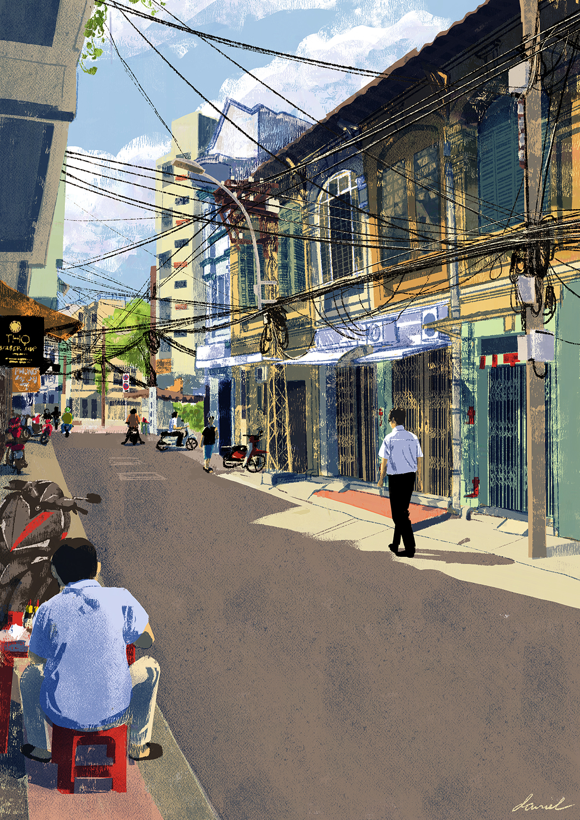 Passing by Tan Hang Street in Cho Lon. Caption and picture by Daniel Ansel Tingcungco