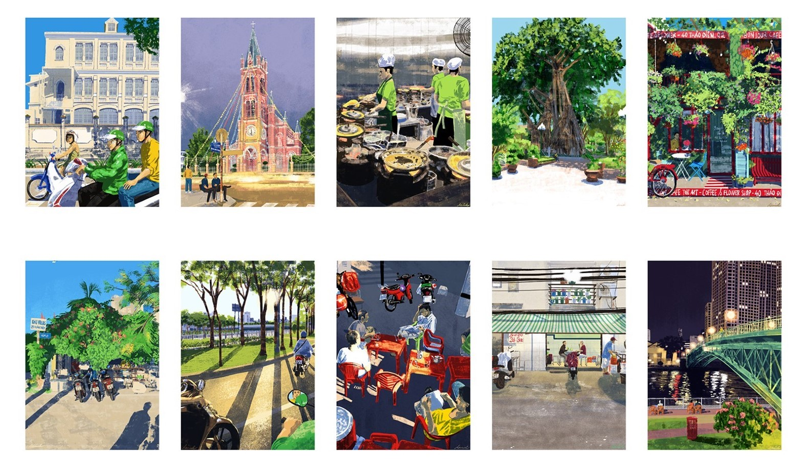 Filipino artist spotlights Ho Chi Minh City from 100 perspectives in viral collection
