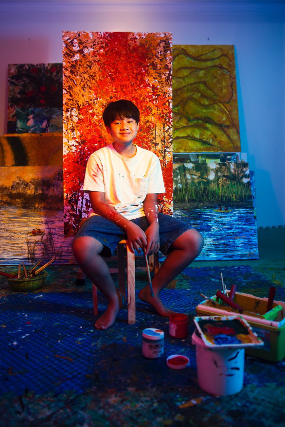 This supplied photo shows artist Xeo Chu in his studio.
