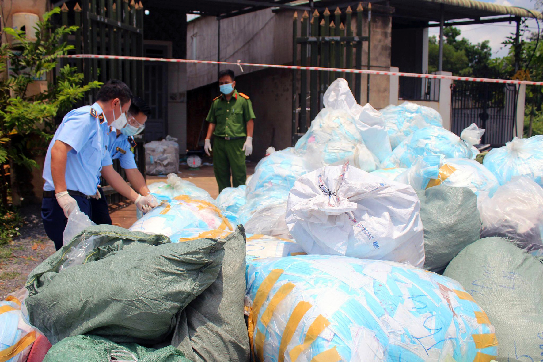 Facility caught recycling face masks in southern Vietnam