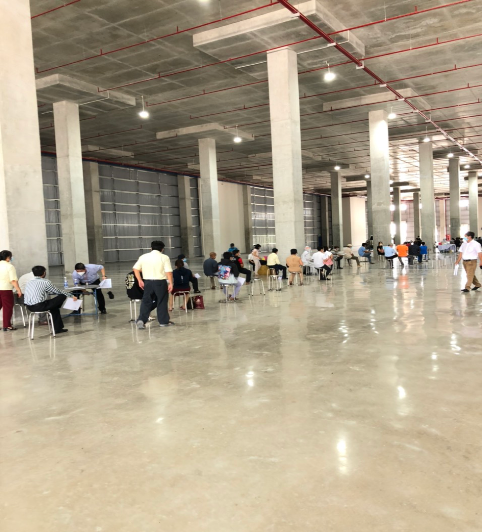 BW provides facilities within the Tan Phu Trung Industrial Park for Ho Chi Minh City's largest COVID-19 vaccination campaign.