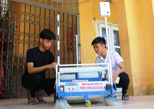 In Vietnam, students' robot lends helping hand in COVID-19 fight