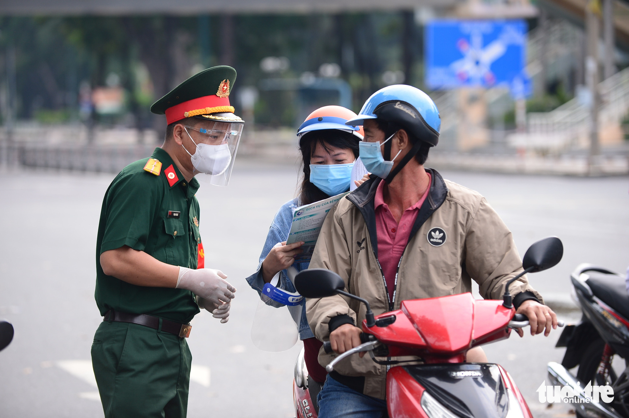 Who can go outside during the shelter-in-place order in Ho Chi Minh City?
