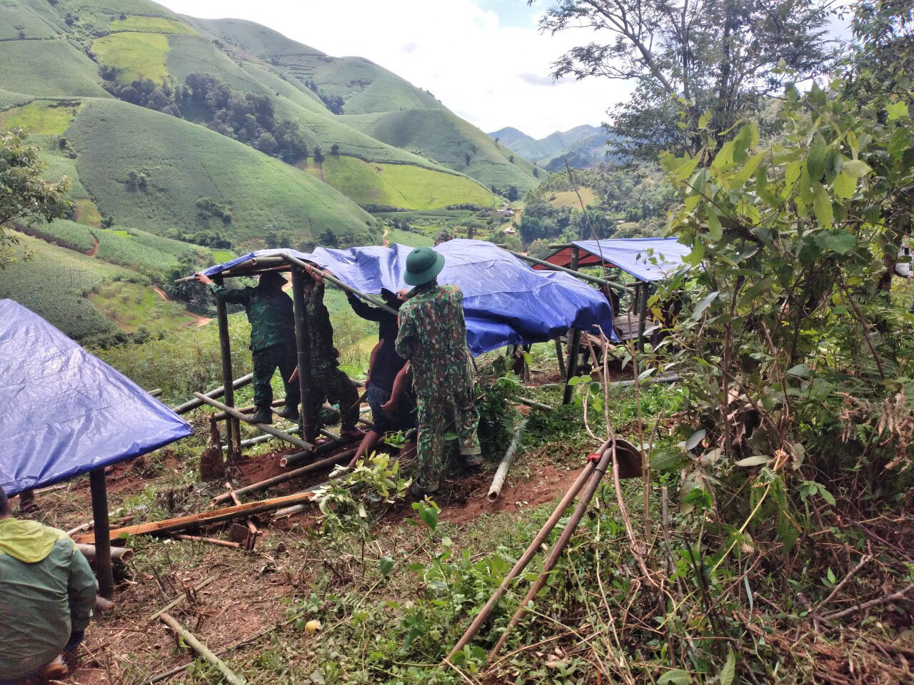 In Vietnam, authorities build mountainside bamboo lodges for COVID-19 quarantine