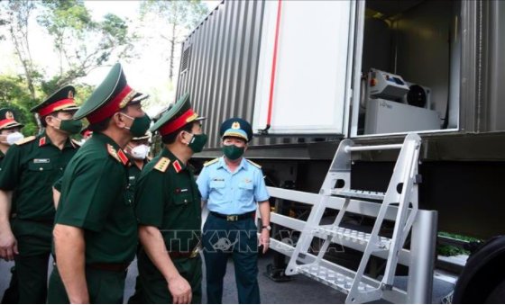 Military operates mobile oxygen production stations in Ho Chi Minh City
