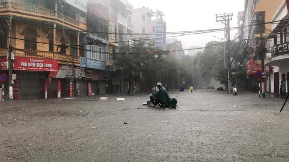 Torrential rain deluges streets in Vietnam's Hai Phong