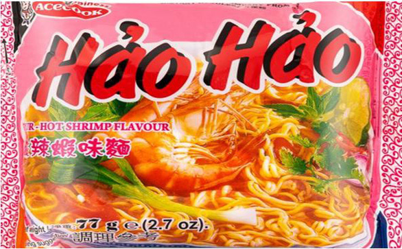 An image of Acecook's Hao Hao sour-hot shrimp flavor instant noodle product on the Food Safety Authority of Ireland's website