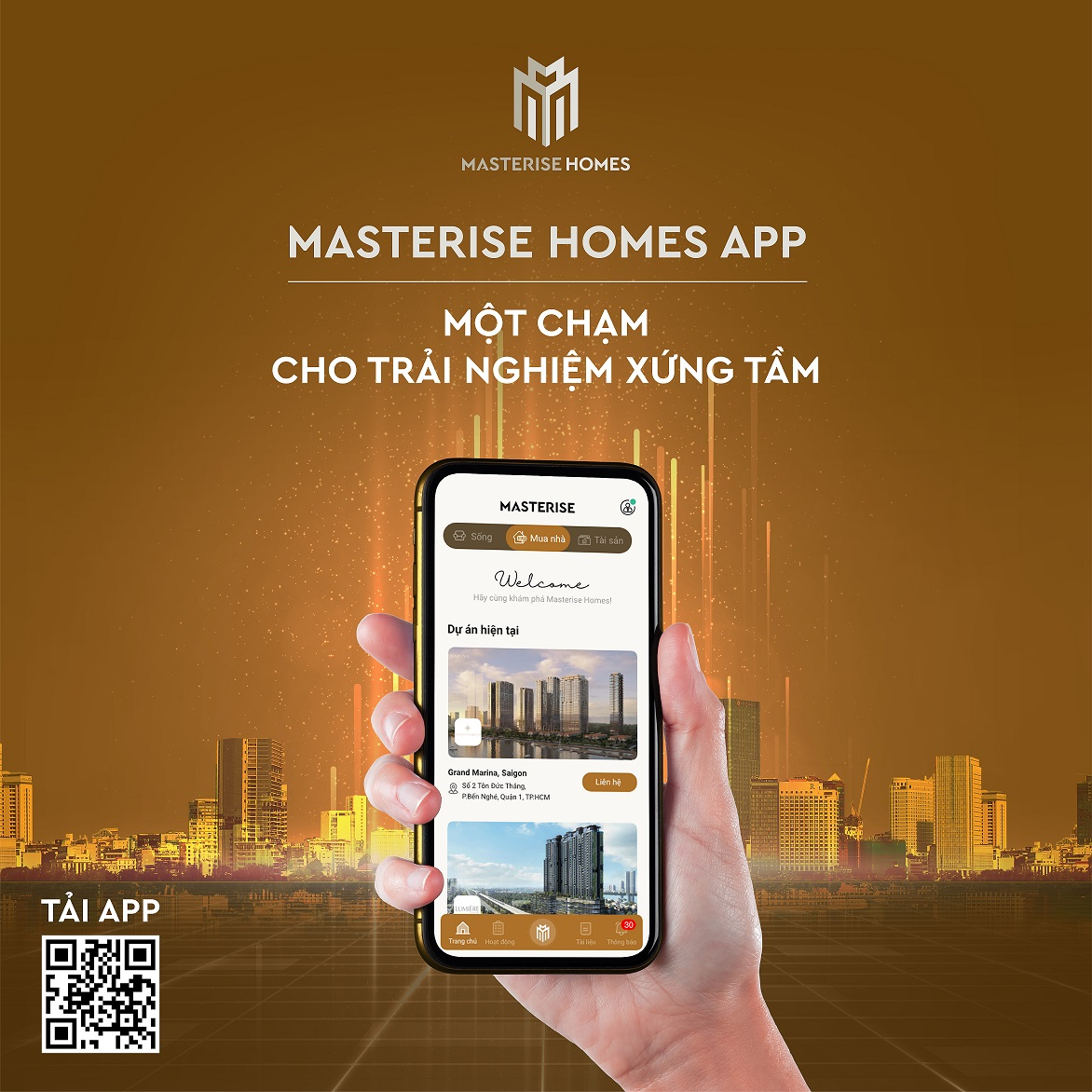 Masterise Homes launches a smart app that changes the way purchasers buy their new homes.