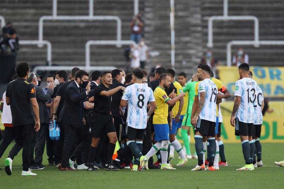 Brazil v Argentina suspended after health officials intervene over quarantine breach