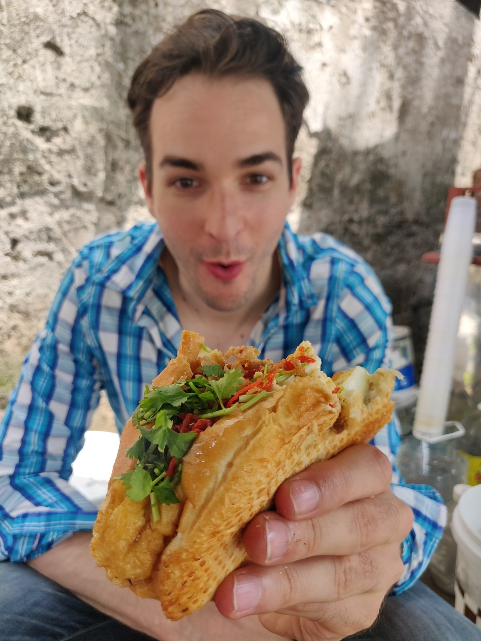 Banh mi is one of the favorite dish of Will Courageux in Vietnam