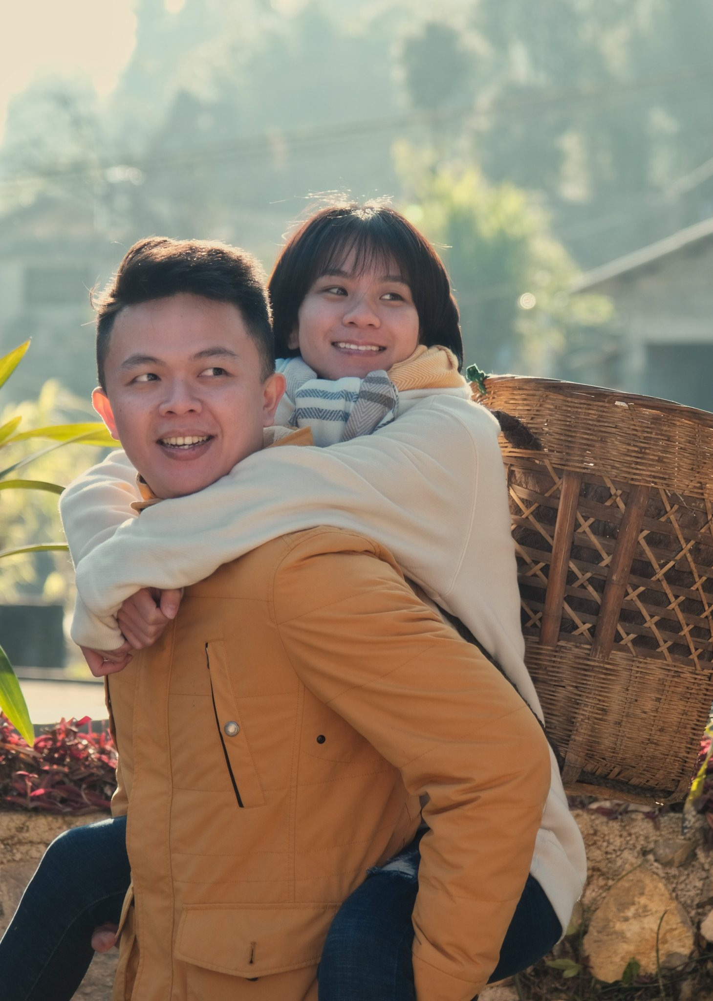 Indra and his wife, Hai Yen, are seen in a photo taken in Ha Giang. Photo by courtesy of Indra