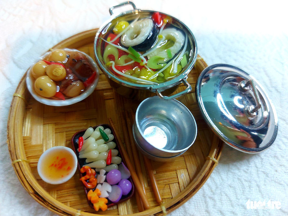Miniature version of a traditional Mekong Delta meal. Photo: Chi Cong / Tuoi Tre
