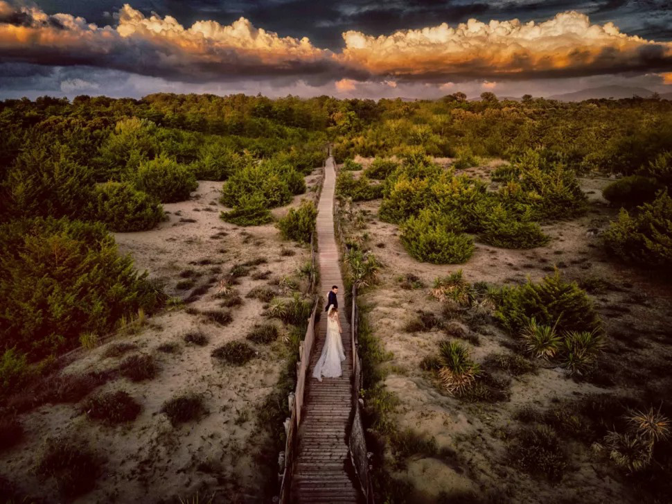 'Verso l'Infinito Insieme a Te' by Matteo Originale, winner of the Wedding category at the 2021 Drone Photo Awards