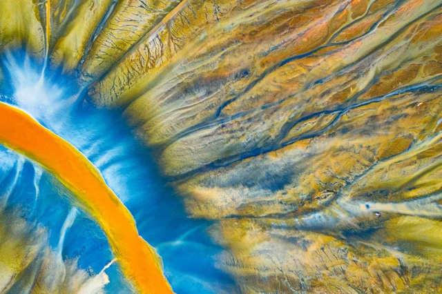 'Poisoned River' by Gheorghe Popa, winner of the Abstract category at the 2021 Drone Photo Awards