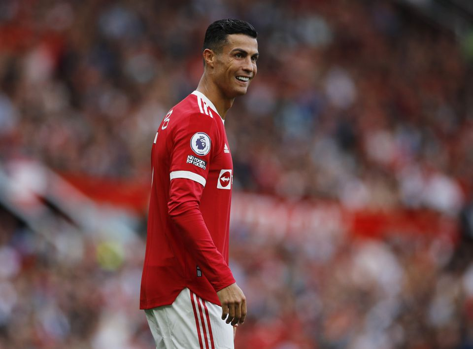 Soccer Football - Premier League - Manchester United v Newcastle United - Old Trafford, Manchester, Britain - September 11, 2021 Manchester United's Cristiano Ronaldo reacts. Photo: Reuters