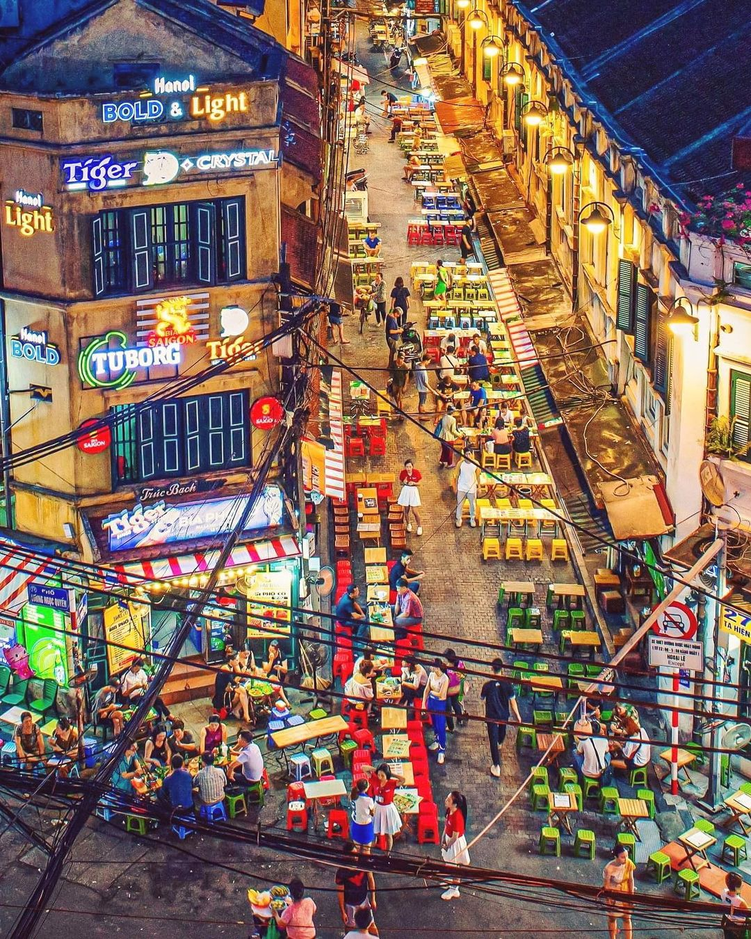 'Back in action after COVID-19. A colorful corner in Hanoi. Ta Hien street, also known as the beer street.' Photo and words by Prabu Mohan