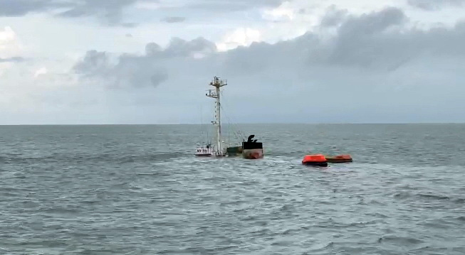Liberian cargo ship sinks Vietnamese vessel off Vietnam's southern port