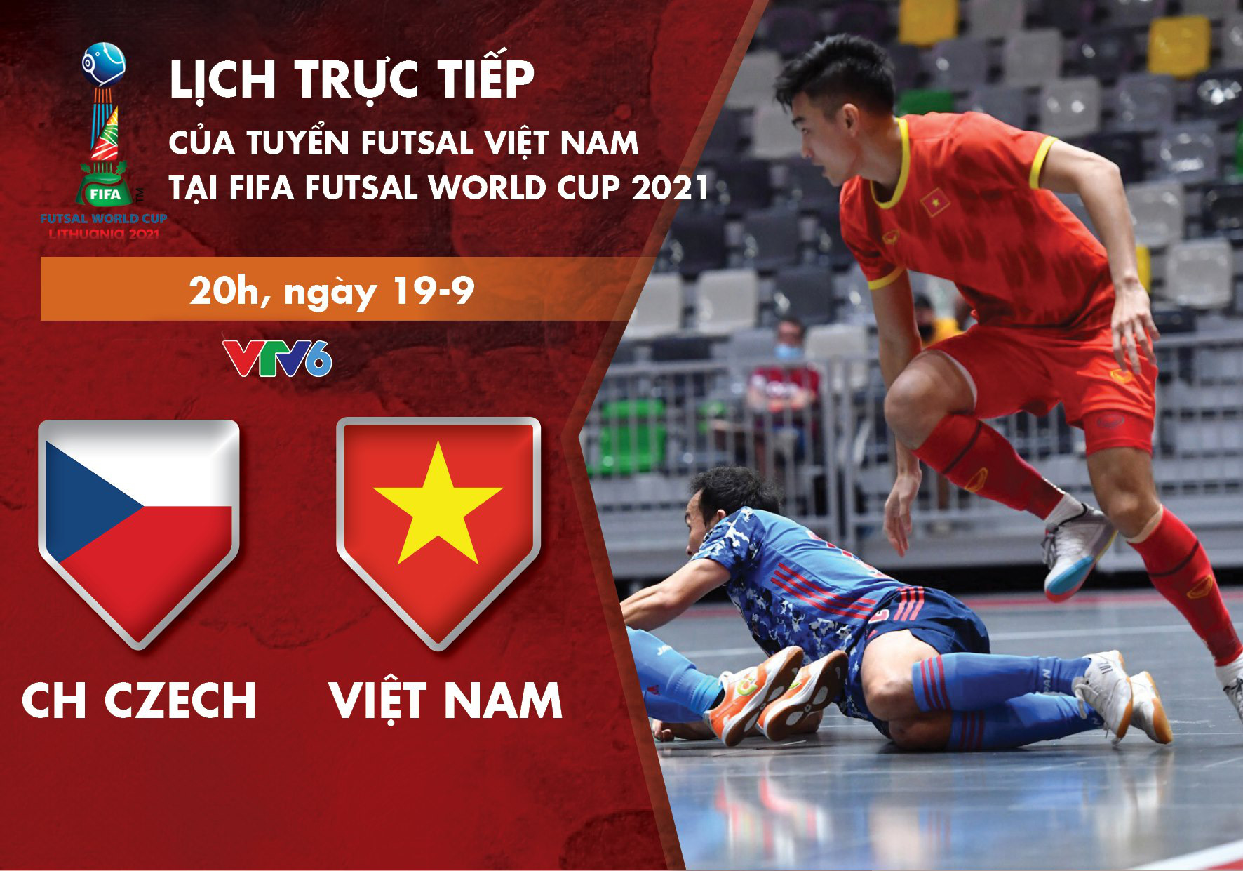Vietnam to face Czech Republic in last group-stage game at FIFA Futsal World Cup