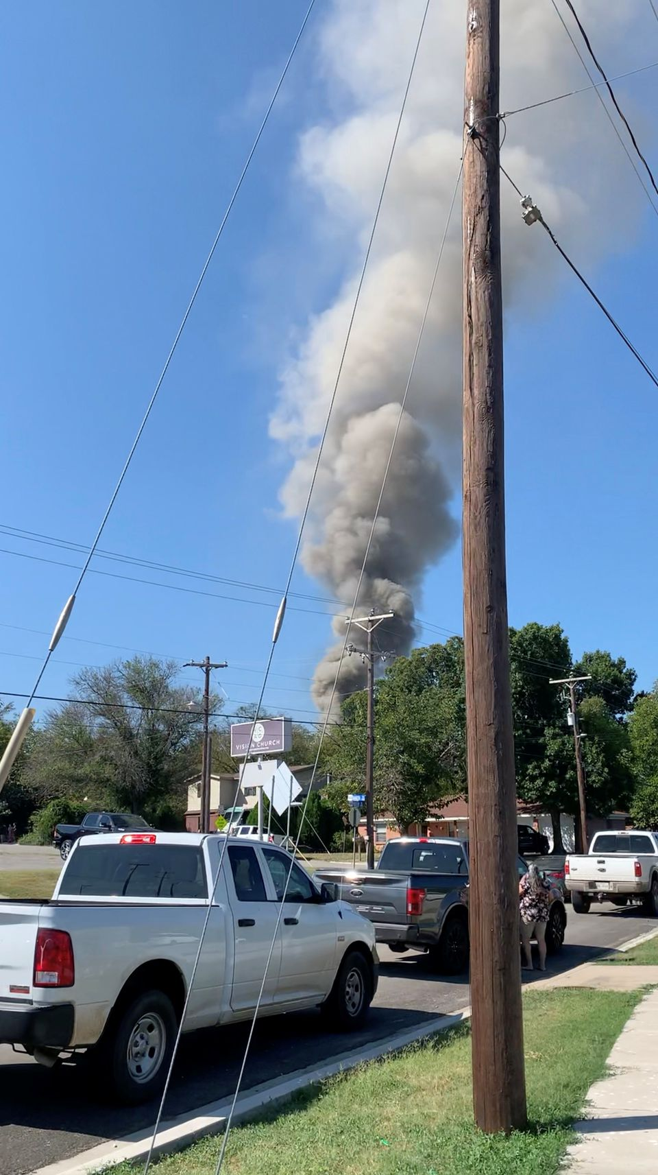 Military aircraft crashes into Texas residential area
