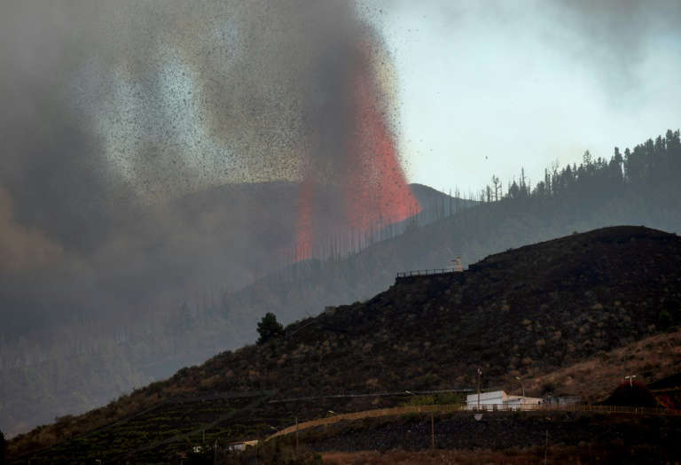 Experts believe the lava is likely to move southwest towards inhabited and wooded areas, before reaching the coast. Photo: AFP