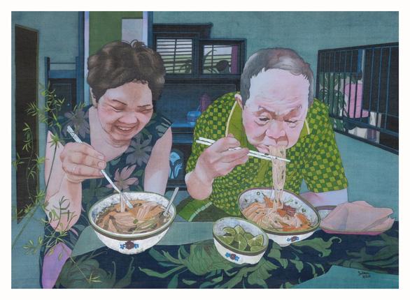 'Mot bat Bun ngan' (A bowl of duck noodle soup) by Ton Nu Thi Bich