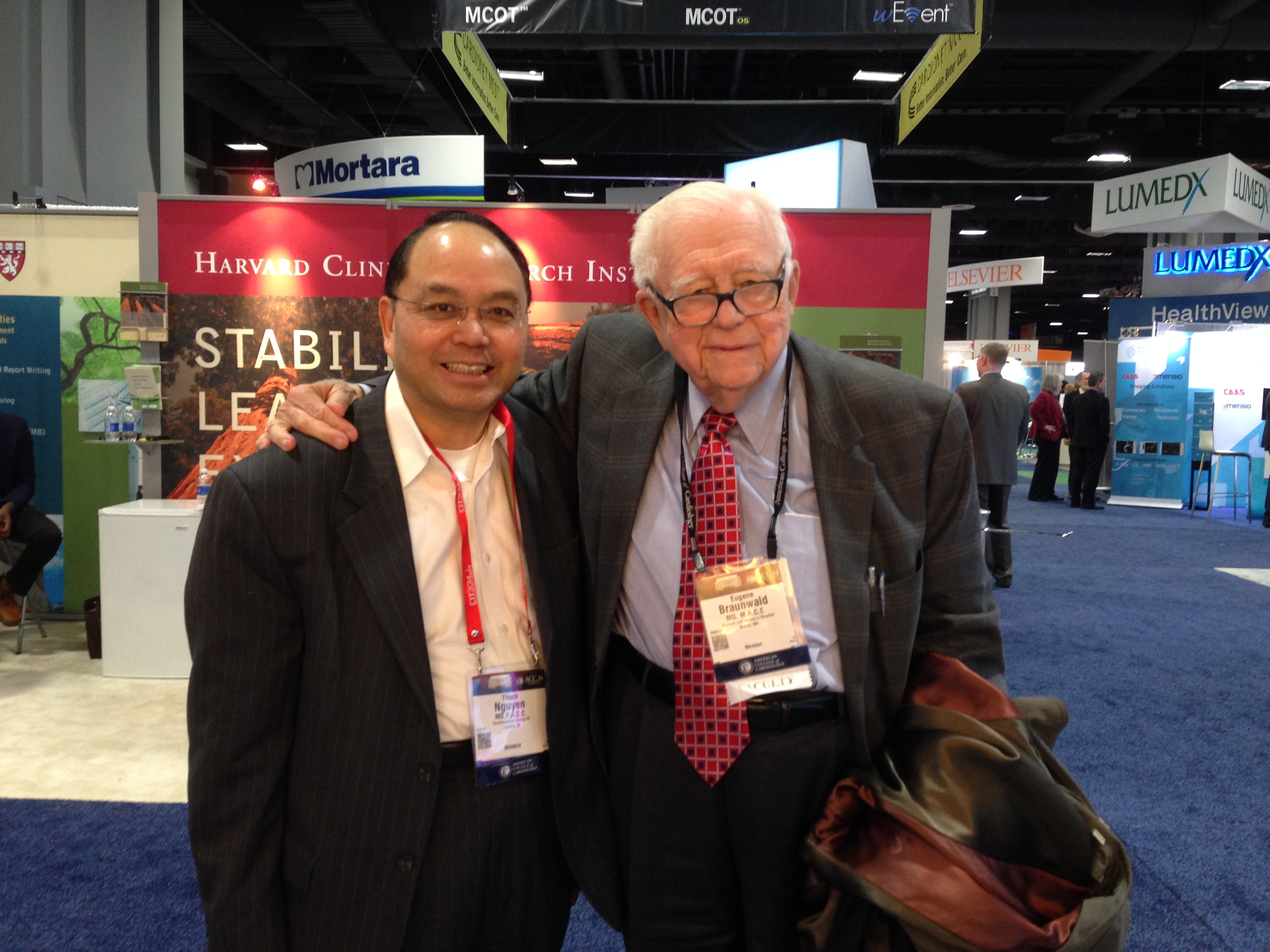 Prof. Thach Nguyen (L) and Prof. Eugene Braunwald