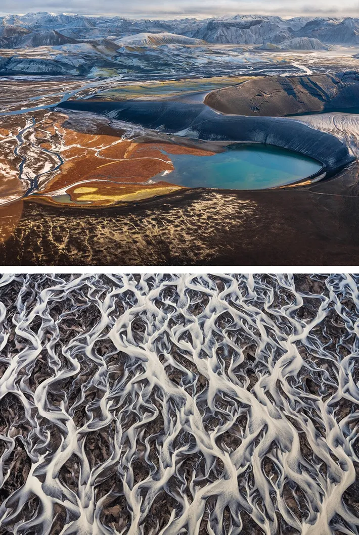 Two photo from the selection of 'Iceland' by Andro Loria