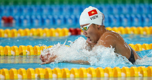 Swimmer Nguyen Thi Anh Vien. File photo: Tuoi Tre