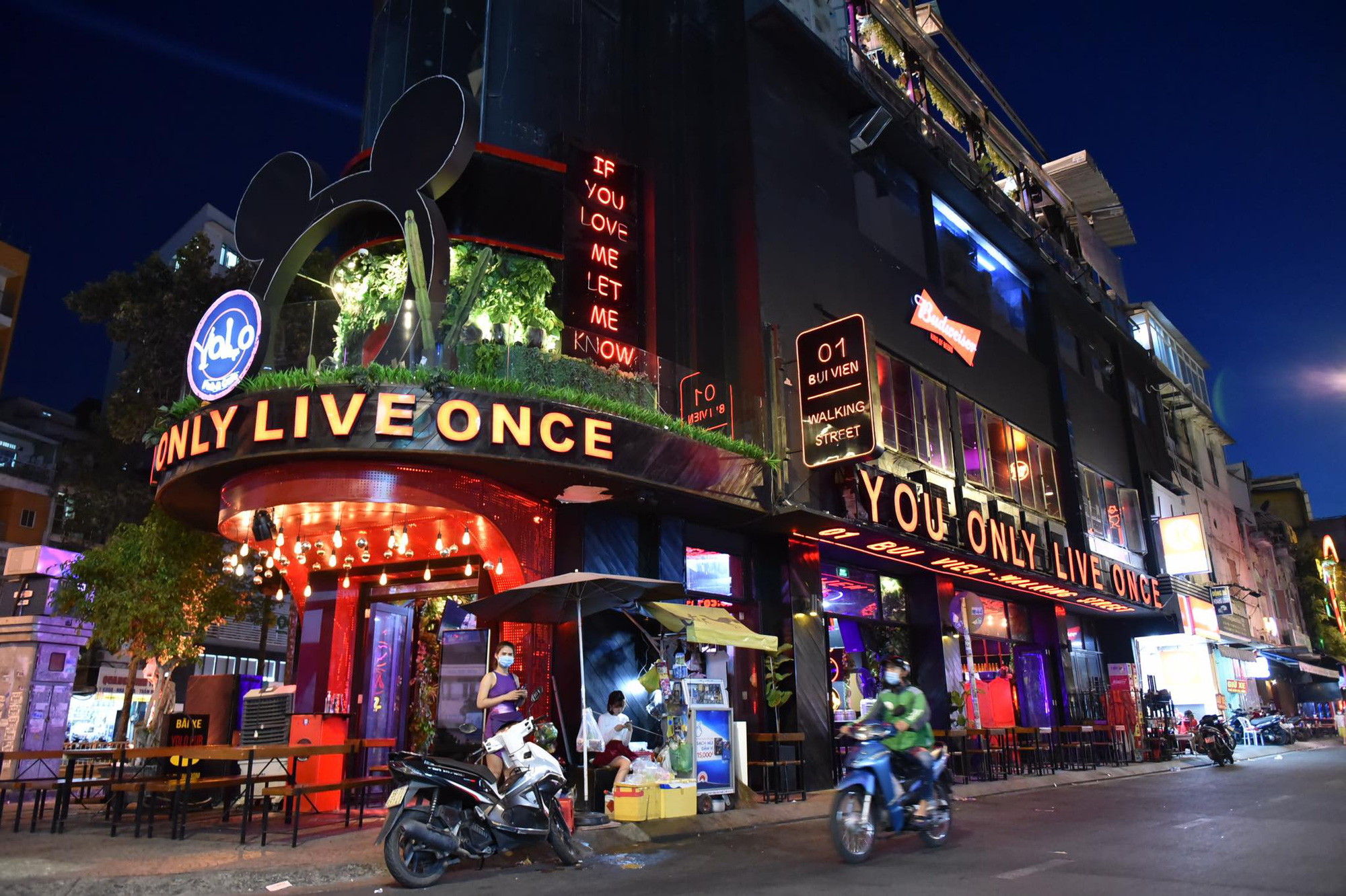 A bar on Ho Chi Minh City's Bui Vien Street is pictured on September 7, 2020. Photo: Ngoc Phuong / Tuoi Tre